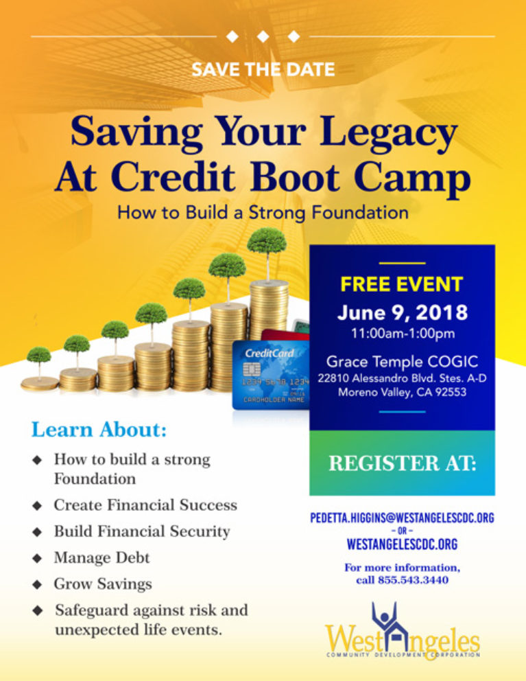 Saving Your Legacy At Credit Boot Camp - West Angeles CDC